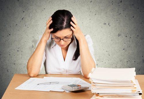 woman worried about bills